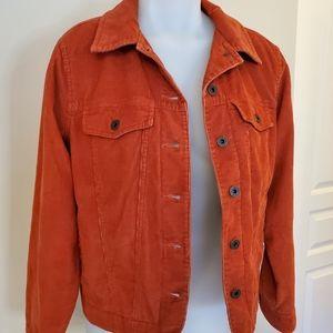 Rich LLBean Cord Jean Jacket Rust Small Medium